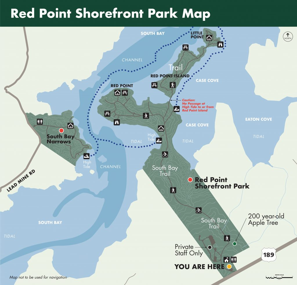 Red Point Shorefront Park Map