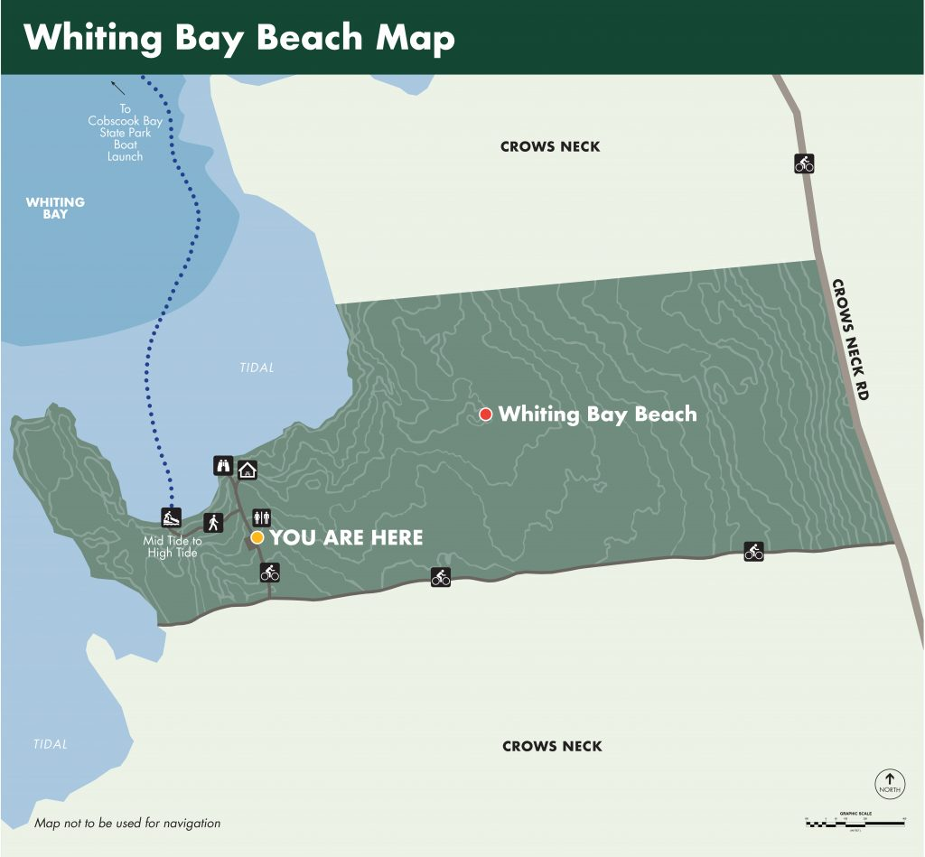 Whiting Bay Beach Map